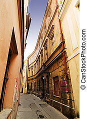 Quaint Street Prague - A quaint tiny alley retezova in...