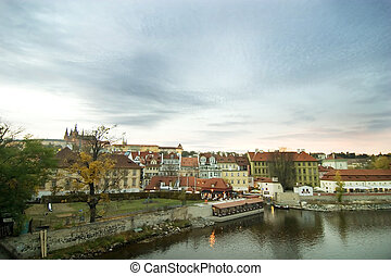Cityscape with Castle - Prague