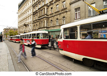 Prague Streetcar detail, Czech Reublic