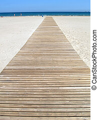 Footbridge - Wooden footbridge at the beach