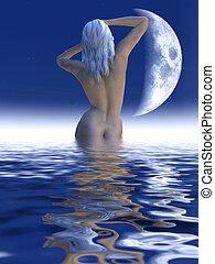 Mermaid 2 - 3D rendered Scenery.