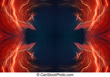 abstract light pattern - an abstract image made from image...