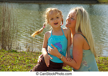 MOther Daughter - Fun in the park