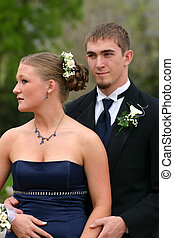 Young Couple - Happy young couple in formal attire