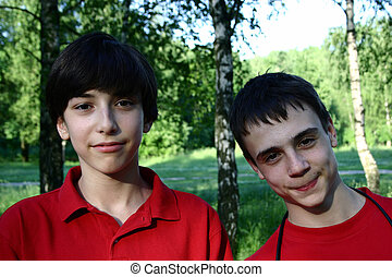 Friends - Two teen ih the park