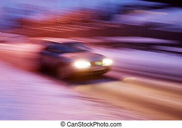 Travelling Car - A abstract blur image of a car travelling...