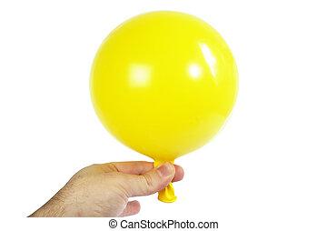 ballon, mano