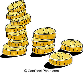 coins - piles of money