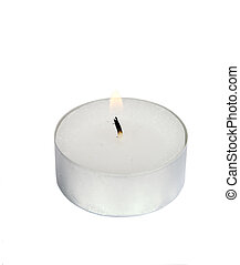 Tea Light - A tea light isolated on white with clipping path...