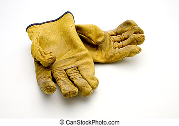 Used gloves - Isolated used gloves