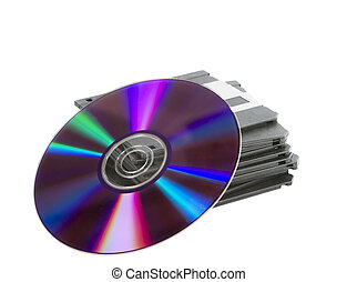 Media Storage - A stack of old dusty 3 12 disks and a...