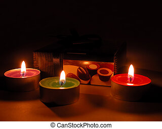 Chocolate temptation - Chocolate box and candles