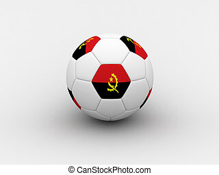 Angola soccer ball - Photorealistic 3D soccer ball isolated...