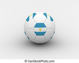 Argentina soccer ball - Photorealistic 3D soccer ball...