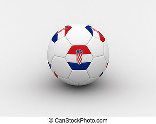 Croatia soccer ball - Photorealistic 3D soccer ball isolated...