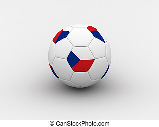 Czech soccer ball - Photorealistic 3D soccer ball isolated...