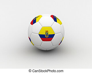 Ecuador soccer ball - Photorealistic 3D soccer ball isolated...