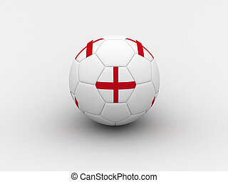 England soccer ball - Photorealistic 3D soccer ball isolated...