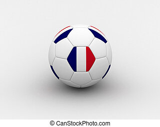France soccer ball - Photorealistic 3D soccer ball isolated...