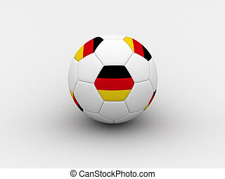 Germany soccer ball - Photorealistic 3D soccer ball isolated...