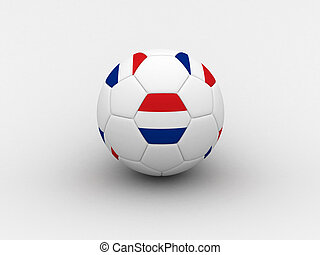 Netherlands soccer ball - Photorealistic 3D soccer ball...
