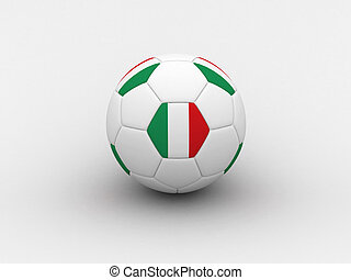 Italy soccer ball - Photorealistic 3D soccer ball isolated...