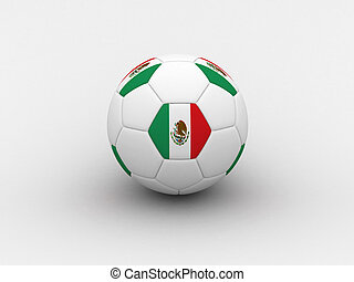 Mexico soccer ball - Photorealistic 3D soccer ball isolated...