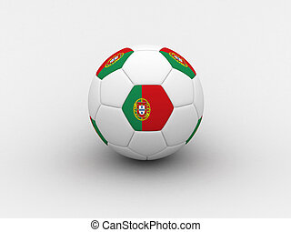 Portugal soccer ball - Photorealistic 3D soccer ball...