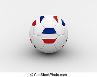 Serbia and Montenegro soccer ball - Photorealistic 3D soccer...