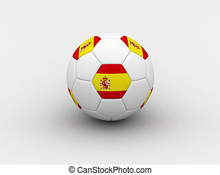 Spain soccer ball - Photorealistic 3D soccer ball isolated...
