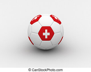 Switzerland soccer ball - Photorealistic 3D soccer ball...