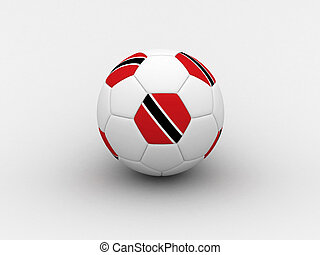 Trinidad and Tobago soccer ball - Photorealistic 3D soccer...