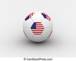 USA soccer ball - Photorealistic 3D soccer ball isolated on...
