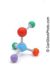 Colorful Molecule - Colorful molecule model isolation