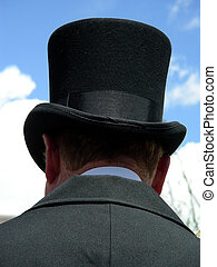 Top Hat - Old fashioned gentleman with top hat