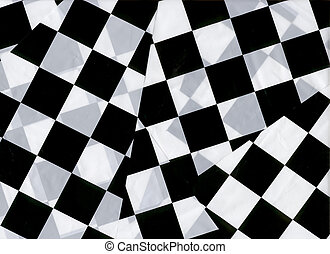 Checkered Flags - Overlapping checkered flags