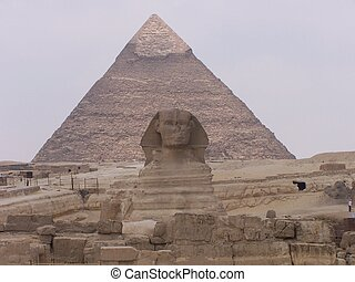 sphinx and pyramids, egypt