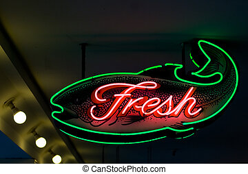 Fresh fish - Seattle\\\'s Pike Place market