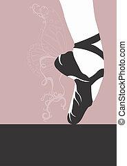 Ballet shoe - Illustration of a ballet shoe