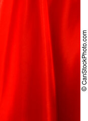 Red Silk - Red silk material draped.