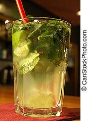 Mojito - A Mojito cocktail on the bar