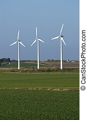 Windmills - Three windmills in a danish acre
