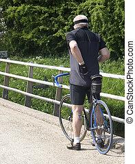 cyclist - older cyclist
