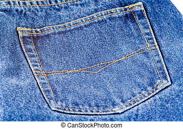 Denim Jeans - The pocket of a pair of jeans