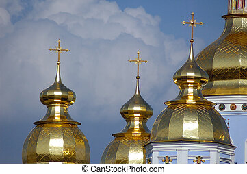 Cathedral 11 - Golden cupola with christian crosses...