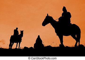 Three riders