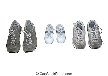 Family of Shoes - Shoes for Mother, Father an Child