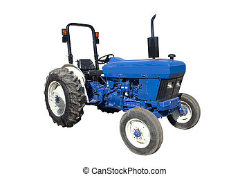 Blue Tractor - a blue tractor