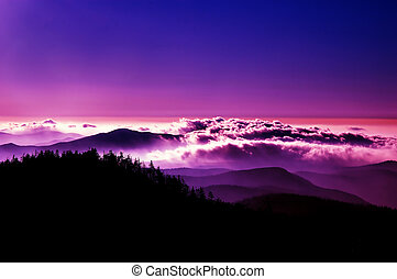 Mountain Glory - High Contrast evening in the Great Smoky...