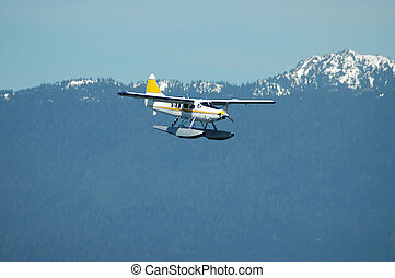 Seaplane - An approaching seaplane for landing